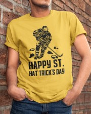 Happy ST Hat Trick's Day Classic T-Shirt apparel-classic-tshirt-lifestyle-26