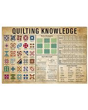Quilting Knowledge 17x11 Poster front
