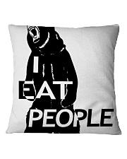 I Eat People Square Pillowcase thumbnail