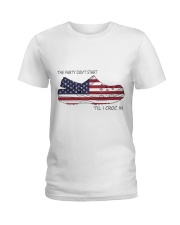 The Party Don't Start Ladies T-Shirt thumbnail