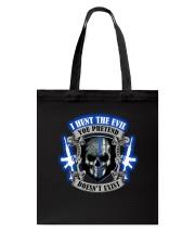 I Hunt The Evil Police Tote Bag thumbnail