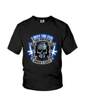 I Hunt The Evil Police Youth T-Shirt thumbnail