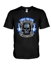 I Hunt The Evil Police V-Neck T-Shirt thumbnail