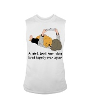 A Girl And Her Dog Sleeveless Tee thumbnail