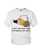 A Girl And Her Dog Youth T-Shirt thumbnail