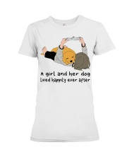 A Girl And Her Dog Premium Fit Ladies Tee thumbnail