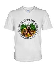 Go Outside V-Neck T-Shirt thumbnail