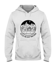 Lets Go Far Away From People 5 Hooded Sweatshirt front
