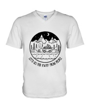 Lets Go Far Away From People 5 V-Neck T-Shirt thumbnail