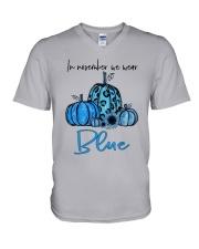 We Wear Blue V-Neck T-Shirt thumbnail