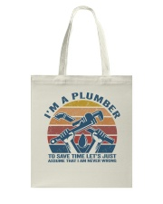 I'm A Plumber Tote Bag thumbnail