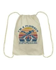 I'm A Plumber Drawstring Bag thumbnail