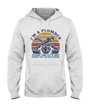 I'm A Plumber Hooded Sweatshirt front