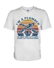 I'm A Plumber V-Neck T-Shirt thumbnail