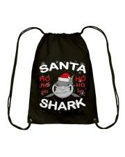 Santa Shark Drawstring Bag thumbnail
