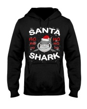 Santa Shark Hooded Sweatshirt thumbnail