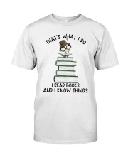 I Read Books Premium Fit Mens Tee thumbnail