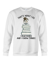 I Read Books Crewneck Sweatshirt thumbnail