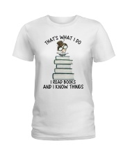 I Read Books Ladies T-Shirt thumbnail