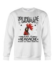 You Smell Like Drama Crewneck Sweatshirt thumbnail