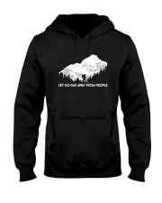 Let Go Far Away From People Hooded Sweatshirt front