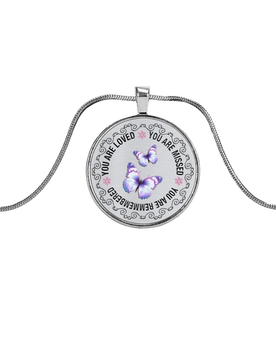 You Are Loved Metallic Circle Necklace