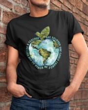 Be Came A Teacher Classic T-Shirt apparel-classic-tshirt-lifestyle-26