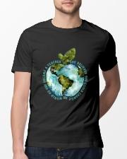 Be Came A Teacher Classic T-Shirt lifestyle-mens-crewneck-front-13