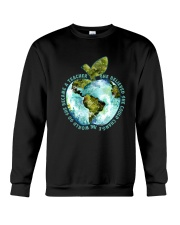 Be Came A Teacher Crewneck Sweatshirt thumbnail