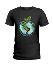 Be Came A Teacher Ladies T-Shirt thumbnail