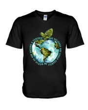Be Came A Teacher V-Neck T-Shirt thumbnail