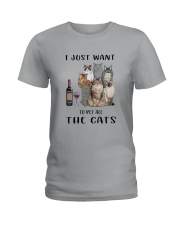 Pet All The Cats Ladies T-Shirt thumbnail
