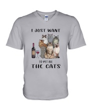 Pet All The Cats V-Neck T-Shirt thumbnail