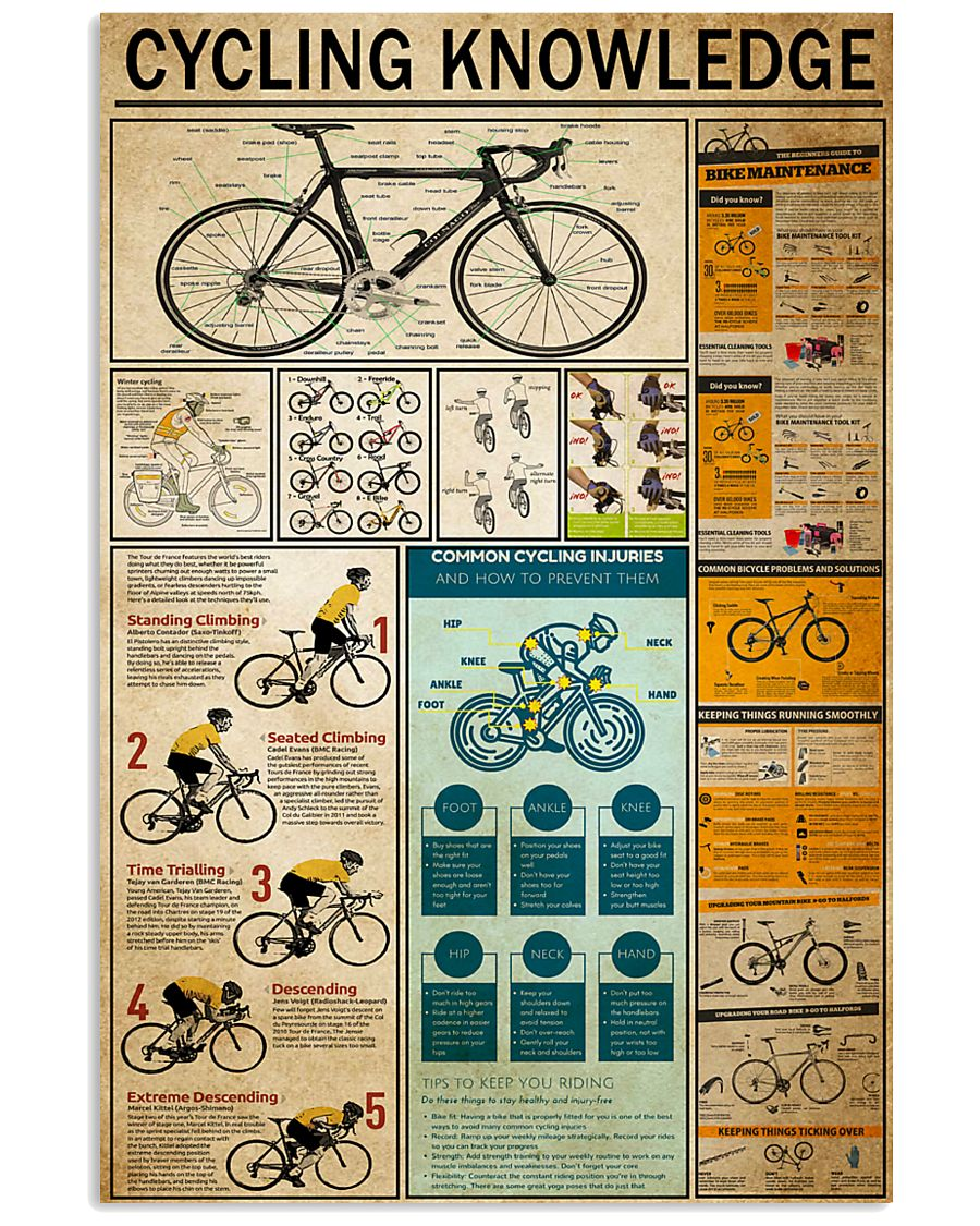 Cycling Knowledge 11x17 Poster