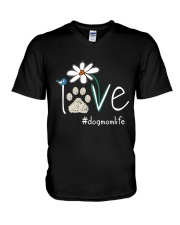 Dog Mom Life V-Neck T-Shirt thumbnail