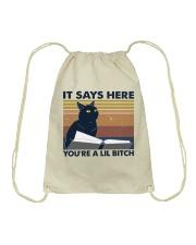 It Says Here Drawstring Bag thumbnail