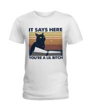 It Says Here Ladies T-Shirt thumbnail