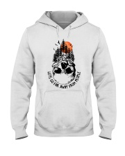Lets Go Far Away From People Hooded Sweatshirt front