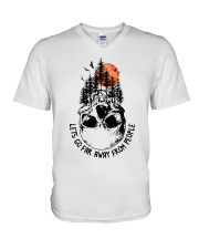 Lets Go Far Away From People V-Neck T-Shirt thumbnail