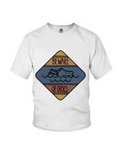 Beware Of Crocs Youth T-Shirt thumbnail