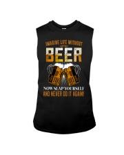 Imagine Life Without Beer Sleeveless Tee thumbnail