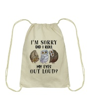 My Eyes Out Loud Drawstring Bag thumbnail