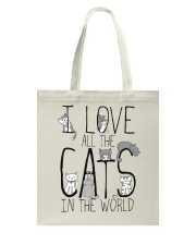 I Love All The Cats Tote Bag thumbnail
