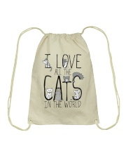 I Love All The Cats Drawstring Bag thumbnail