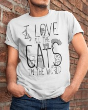 I Love All The Cats Classic T-Shirt apparel-classic-tshirt-lifestyle-26