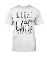 I Love All The Cats Classic T-Shirt front