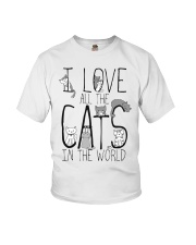 I Love All The Cats Youth T-Shirt thumbnail