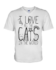 I Love All The Cats V-Neck T-Shirt thumbnail