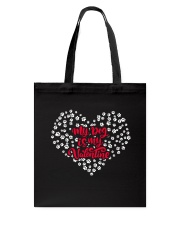 My Dog Is My Valentine Tote Bag thumbnail