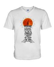 A Good Teacher V-Neck T-Shirt thumbnail